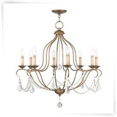 Livex Chesterfield 6427 8-Light Chandelier