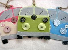 Hutchpotch and Quernus Crafts Felt Crafts, Fabric Crafts, Paper Crafts, Diy Crafts, Volkswagon Bug, Volkswagen, Vw Camper, Vw Bus, Craft Projects