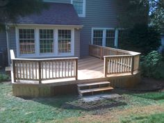 Low level cedar deck