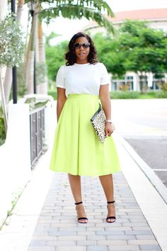 "Off White Top + Full Skirt ""Extended Summer"""