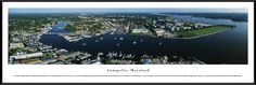 Annapolis, Maryland Panoramic Skyline Picture - Standard Frame $99.95