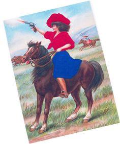 Vintage 1910 Postcard  Annie Oakley with Pistol by shabbyshopgirls