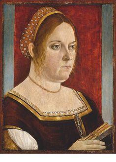 Portrait of a Woman Holding a Book Vittore Carpaccio (Italian, Venice 1460/66?–1525/26 Venice)  Date:     ca. 1500–1505 Medium:     Oi...