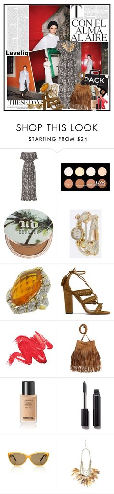 """""""Pack and Go: Mexico City"""" by cindy88 ❤ liked on Polyvore featuring Miss Selfridge, NYX, Urban Decay, Aquazzura, Chanel and Packandgo"""