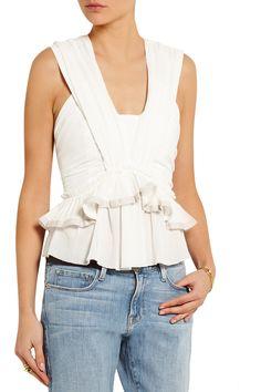 Isabel MarantGrayton ruffled cotton-gauze topfront