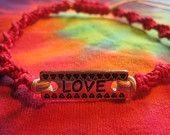 Love Natural Hemp Bracelet, Perfect for Christmas stockings, Found at UniqueHempDesigns.Etsy.com
