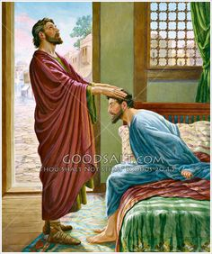 Annis restores Paul's sight Acts 9:10-19, Acts 22:12-16