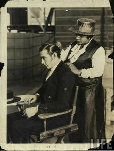 Rudolph Valentino on the set of Blood and Sand (1922)