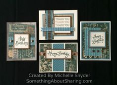 Easy cards using CTMH Timberline Paper Packet and quick compositions from CTMH How-To Books. CTMH How-To Books have the recipes and steps... great creative resources. Click here to see the books available. http://michelle.ctmh.com/Retail/Products.aspx?CatalogID=10   #SomethingAboutSharing #Timberline #CTMHHowToBooks