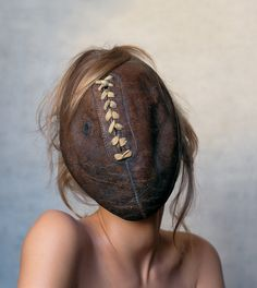 I like the creepiness in the photo and i like how the hair is naturally over the ball