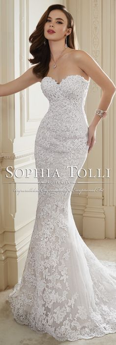 The Sophia Tolli Spring 2016 Wedding Dress Collection - Style No. Y11652 - Maeve #laceweddingdress