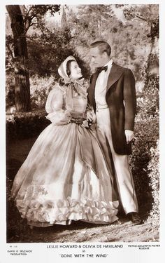 https://flic.kr/p/Rq6vmQ | Leslie Howard and Olivia de Havilland in Gone with the wind (1939) | British postcard in the Picturegoer Series, London, no. W. 348. Photo: David O'Selznick Production / Metro-Goldwyn-Mayer. Publicity still for Gone with the Wind  (Victor Fleming, 1939).  English stage and film actor, director, and producer Leslie Howard (1893-1943) is best-known for his role as Ashley Wilkes in Gone with the Wind (1939). Other popular films were The Scarlet Pimpernel (1934), The…