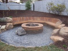 firepit and seating