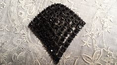 NICE Pin Decorated w/ Black Faceted Rhinestones by by ceiltiques