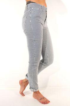 Edwin Denim Slim Straight Pants CS Denim Blue Stripe Stone Wash