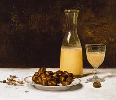 Albert Anker - Still Life with Wine and Chestnuts