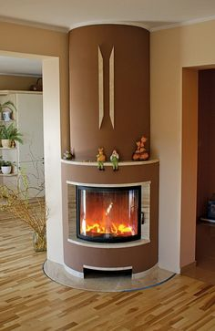 Wood Burning Stove Corner, Cheap Fire Pit, Room Partition Designs, Home Insulation, Wood Burner, Design Case, Fireplace Design, Sweet Home, New Homes