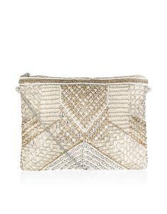 Megan Embellished Clutch Bag | Ivory | Accessorize