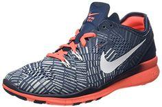 4523be26fb7974 Nike Women s Free 5.0 TR Fit Blue Mango Grey 704695-406 (SIZE  6.5)