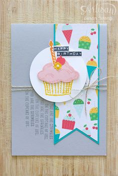 Sprinkles of Life + Cherry on Top Bday Card ~ Susan Wong