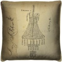 Vintage Chandelier for the Parlor Pillow