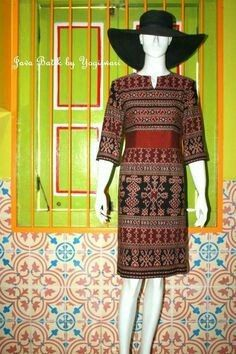 Kebaya Dress, Batik Kebaya, Batik Dress, Patchwork Dress, Silk Dress, Filipino Fashion, Batik Fashion, Thai Dress, Mature Fashion