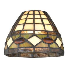 Dome Tiffany Glass Shade - fitter at Destination Lighting