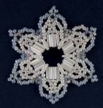 Sandra D Halpenny - Free Bead Patterns and Ideas : Snowflake #34 Ornament pattern