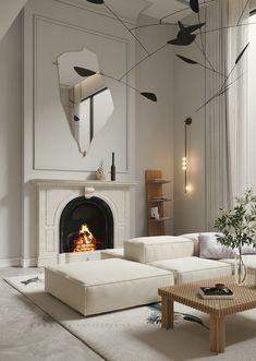 Living Room Interior, Home Living Room, Living Room Designs, Living Room Decor, Kitchen Living, Appartement Design, Contemporary Interior Design, Modern Contemporary, Interior Lighting Design
