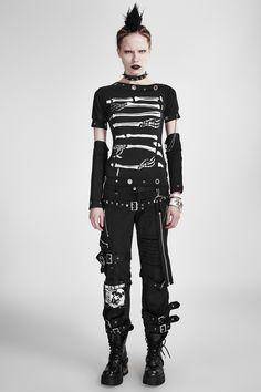c3c2744b834e8 vintage rock skeleton printing cotton punk shirts for women
