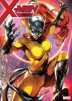 X-Men Red Marvel Battle Lines Variant Cover - Hellcat by Jong-Ju Kim * Marvel Girls, Marvel Avengers, Marvel Comics Art, Bd Comics, Marvel Women, Comics Girls, Marvel Comic Character, Comic Book Characters, Marvel Characters