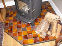 kitchens wood stoves hearth fire wood wood projects woodstove tile