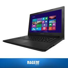 Trabalhe, estude ou divirta-se a qualquer hora com um notebook moderno e prático! Confira o Lenovo G400s.