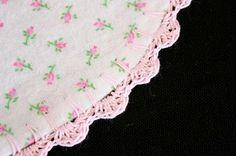 crochet edge blankets