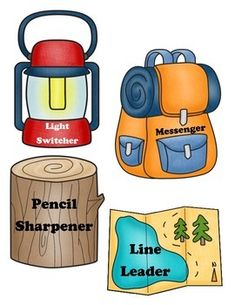 You and your students will love this camping themed job chart! Included are Classroom Job Chart, Classroom Helpers, Classroom Jobs, Classroom Decor, Camping Signs, Camping Theme, Camping Crafts, Camping Ideas, Camping Hacks