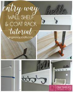 Craftaholics Anonymous® | DIY Shelf and Coat Rack