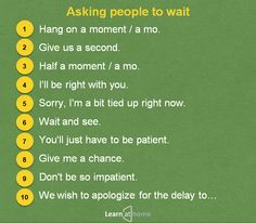 Asking people to wait #English #Vocabulary #английский #словарь