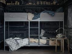 Etagenbett Tromsö Ikea : Hochbett tromsö jetzt svärta mit regal posot kleinanzeigen