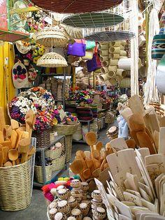 """""""Puesto del mercado"""" - A colorful shop at the main market of Oaxaca city, Mexico."""