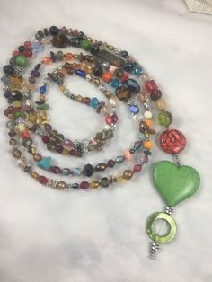 Excited to share the latest addition to my #etsy shop: Necklace. Beautifully beaded green heart and silver flower beaded necklace. Brilliantly colored beaded necklace (515) http://etsy.me/2niOth4 #jewelry #necklace #green #no #silver #girls #yes #brown #lovefriendship