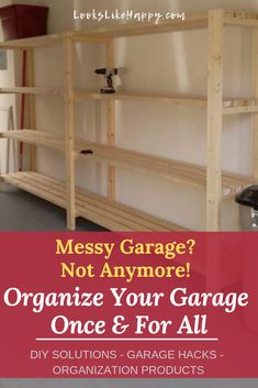 Messy Garage? Not Anymore! Organize Your Garage Once & For All | Spring cleaning isn't just for indoors! Pin now and organize your garage before the summer madness starts!  #organization #springcleaning