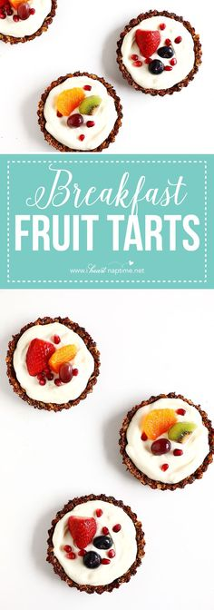 Delicious and easy to make Breakfast Fruit Tarts that are perfect for summer mornings... healthy and so incredibly refreshing.