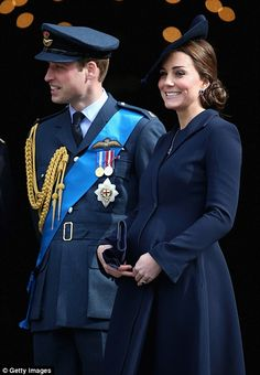 All smiles: The Duchess, 33, was at St. Paul's with husband Prince William for a service c...