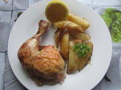 Greckie smaki: Kurczak cytrynowy zapiekany z ziemniakami