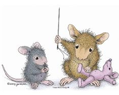 House-Mouse giving a helping needle
