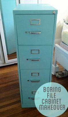 How to Paint a File Cabinet. might need later for craft room to file my patterns. ;)