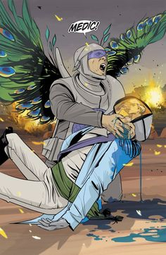 Saga #12. Art by Fiona Staples.