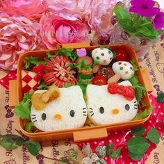文化祭応援弁♬キティ&ミミィちゃんのお弁当♬