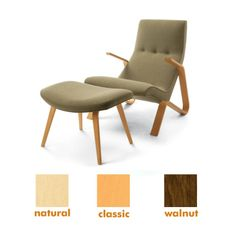 Modernica Grasshopper Chair & Ottoman. The Modern Shop