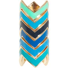 ASOS Zig Zag Enamel Rings ($8.81) ❤ liked on Polyvore featuring jewelry, rings, accessories, bracelets, zig zag jewelry, enamel jewelry, stackable rings, stackers jewelry and asos